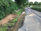 Water still leaking over road not fixed
