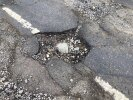 New deep pothole outside the Glebe by postbox.