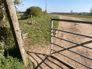 Gates into and out of field coming from Braunston